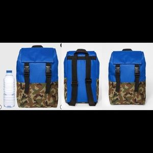 NWT toddler boys blue & camo backpack